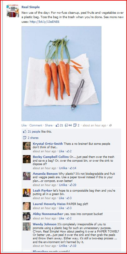 Real Simple facebook post screen capture