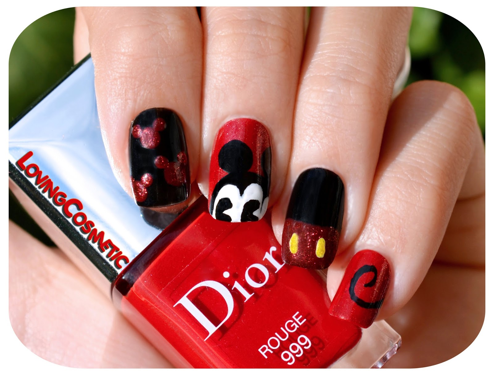 Nail Art - Classic Mickey Mouse ~ LovingCosmetic