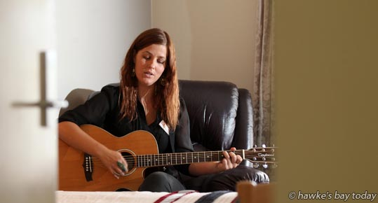 Laura Halligan, music therapist, pictured at Cranford Hospice, Hastings photograph
