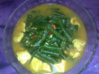 Resep Kacang Panjang Masak Kuning