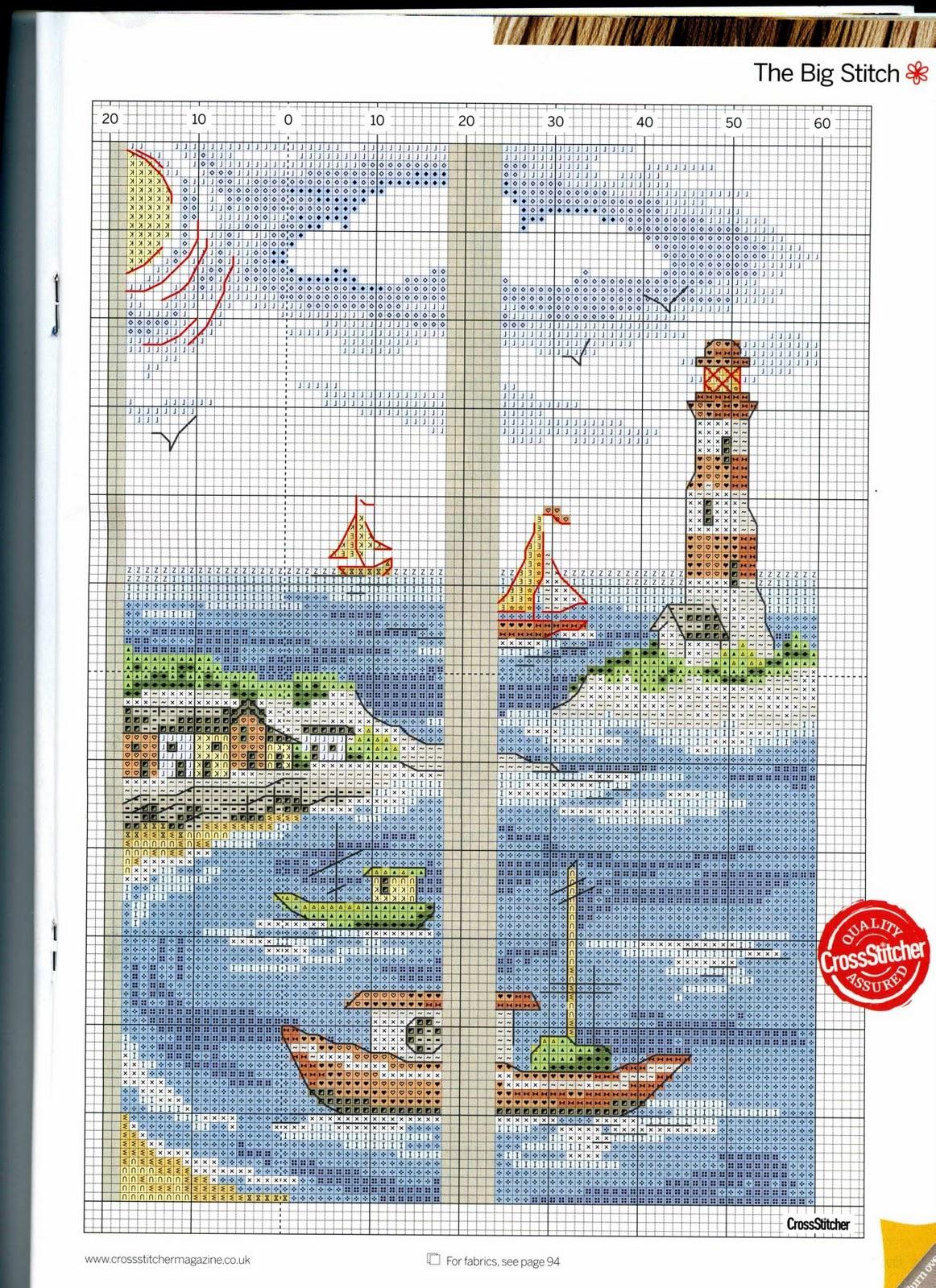 Вышивание крестиком схема морская