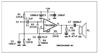 Сообщения форума.  Схема включения TDA2050 неверная (см. прикрепленный рисунок).  C10 и С11 можно изъять.