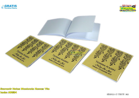 Souvenir Notes Blocknote Kemas Tile unik