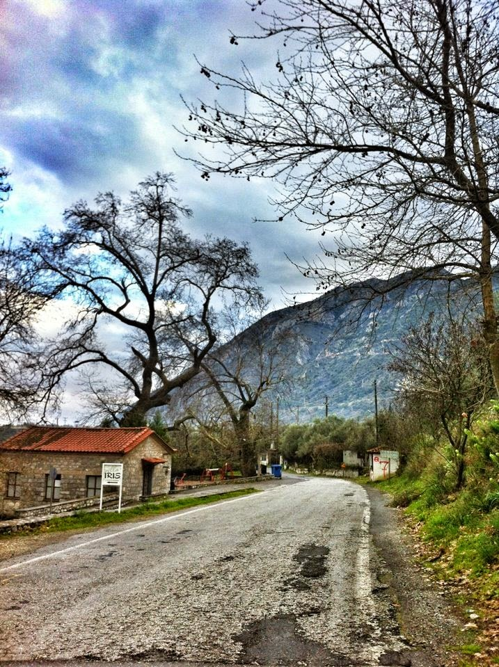 Road up to Ancient Mistras