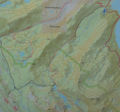 Tahoe-Yosemite Trail (TYT) hiking map, as posted at Meeks Bay trailhead