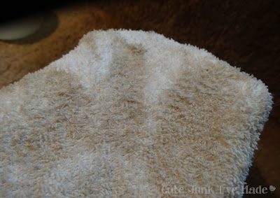 Miracle Carpet Cleaner - dirty towel after scrubbing