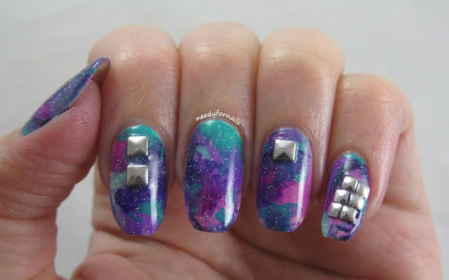 Smoosh Art New Years Nails 2016