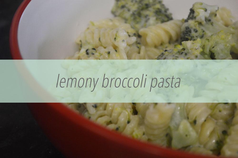Broccoli pasta with lemon and cream