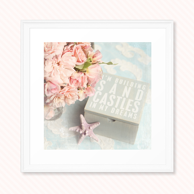 shabby chic photograph, pastel photograph, roses
