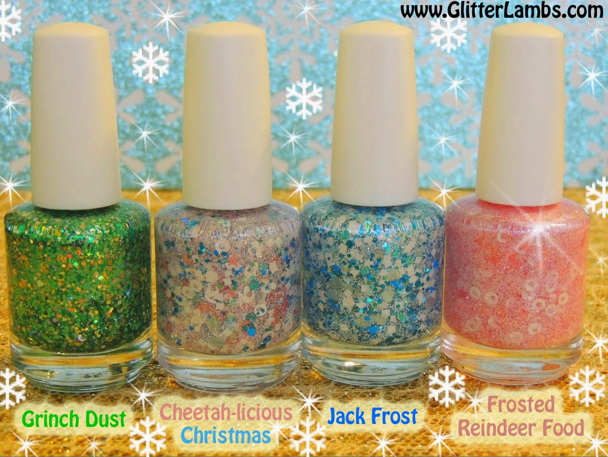 Cheetah-licious Christmas Nail Polish