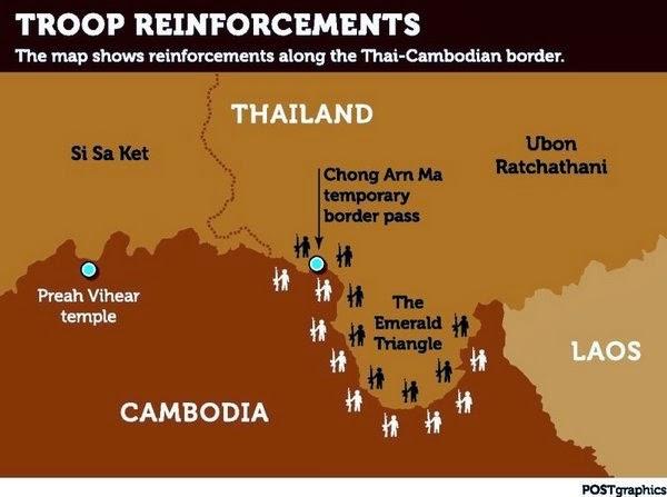 Militär Grenze Thailand Kambodscha