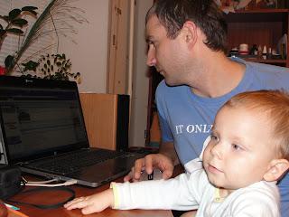 я папе помогаю