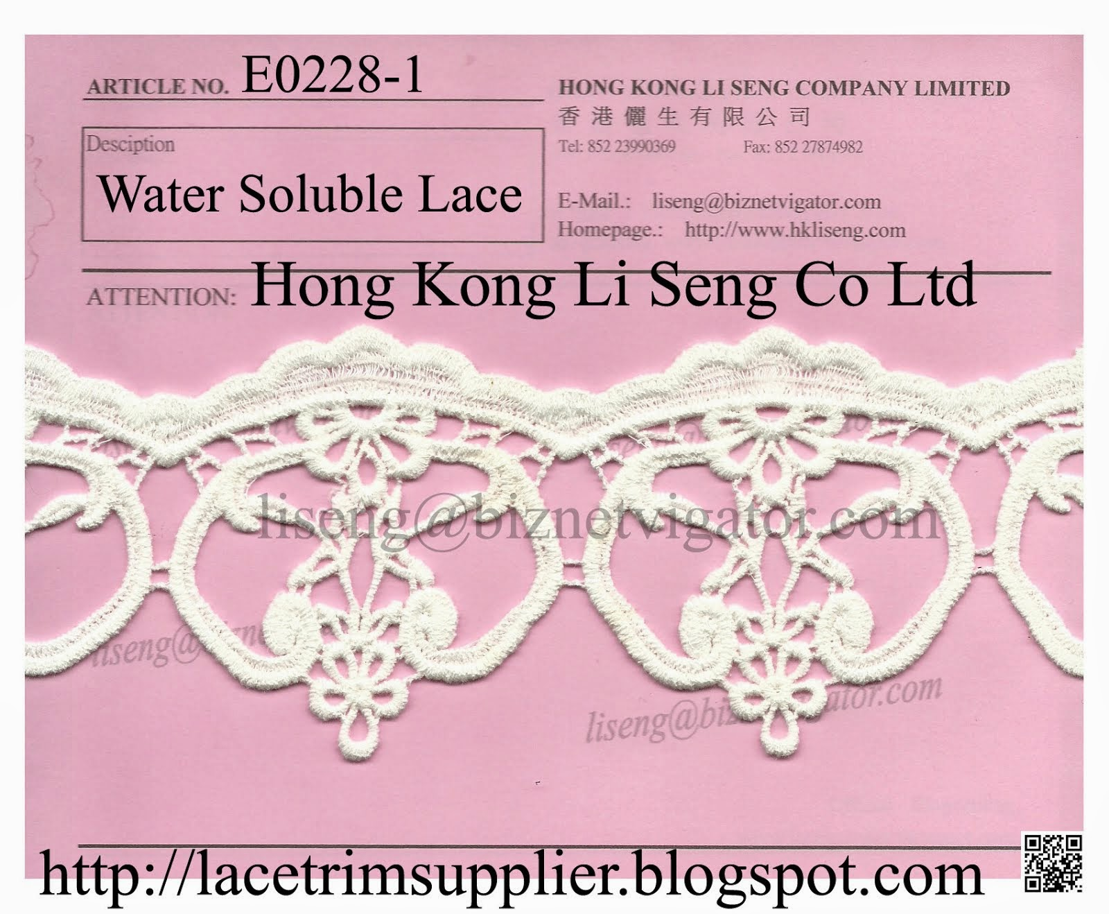 New Cotton Lace Pattern - Water Soluble Lace Manufacturer