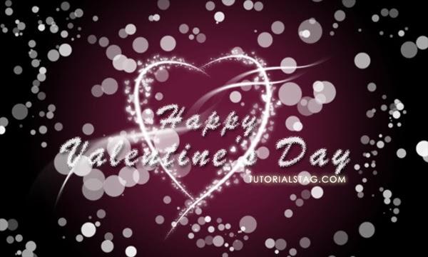 Membuat Desain Wallpaper Hari Valentine.