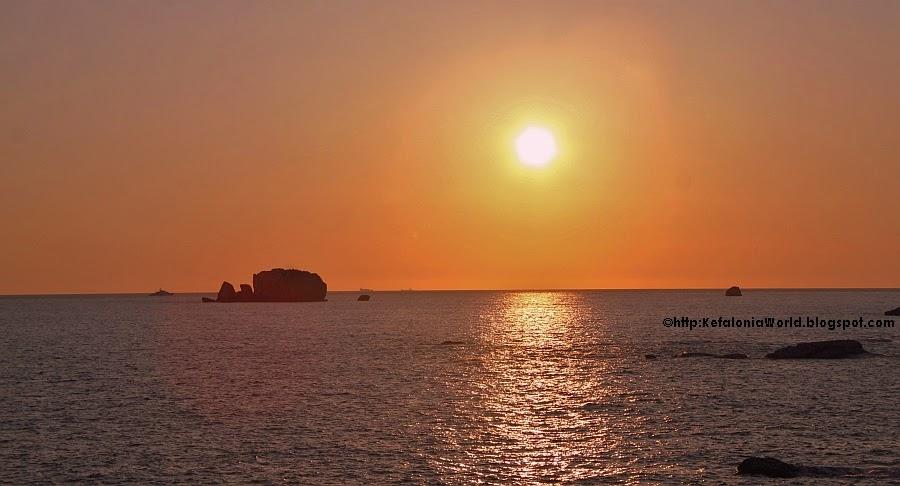 Kefalonia sunset, Dias Islet, Avythos