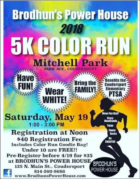 5-19 Brodhun's 5K Color Run, Coudersport