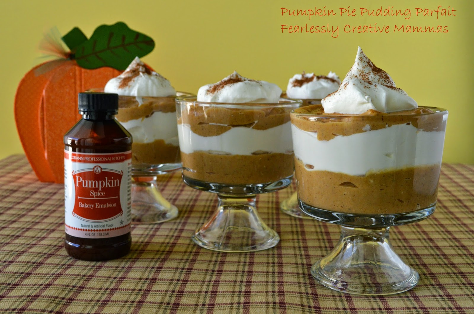 Pumpkin Pie Pudding Parfait #LorAnn