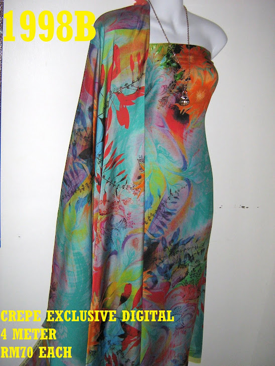 CP 1998B: CREPE EXCLUSIVE DIGITAL PRINTED, 4 METER