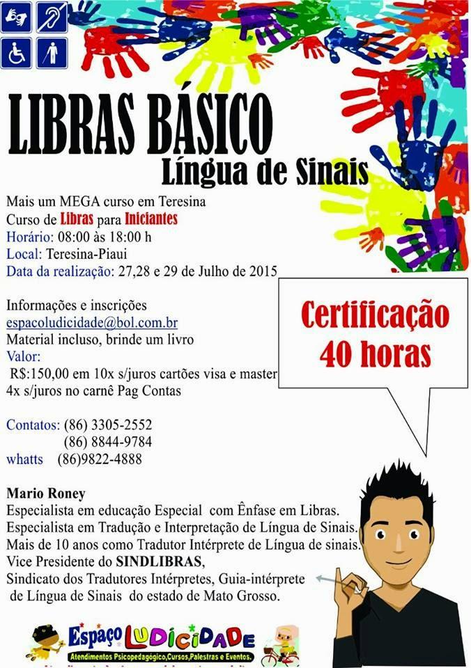CURSO DE LIBRAS