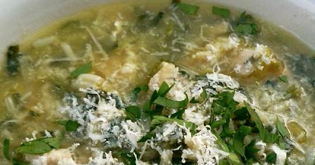 Scrumpdillyicious: Stracciatella with Leeks, Orzo & Spinach