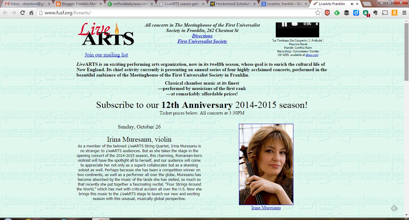 LiveARTS website