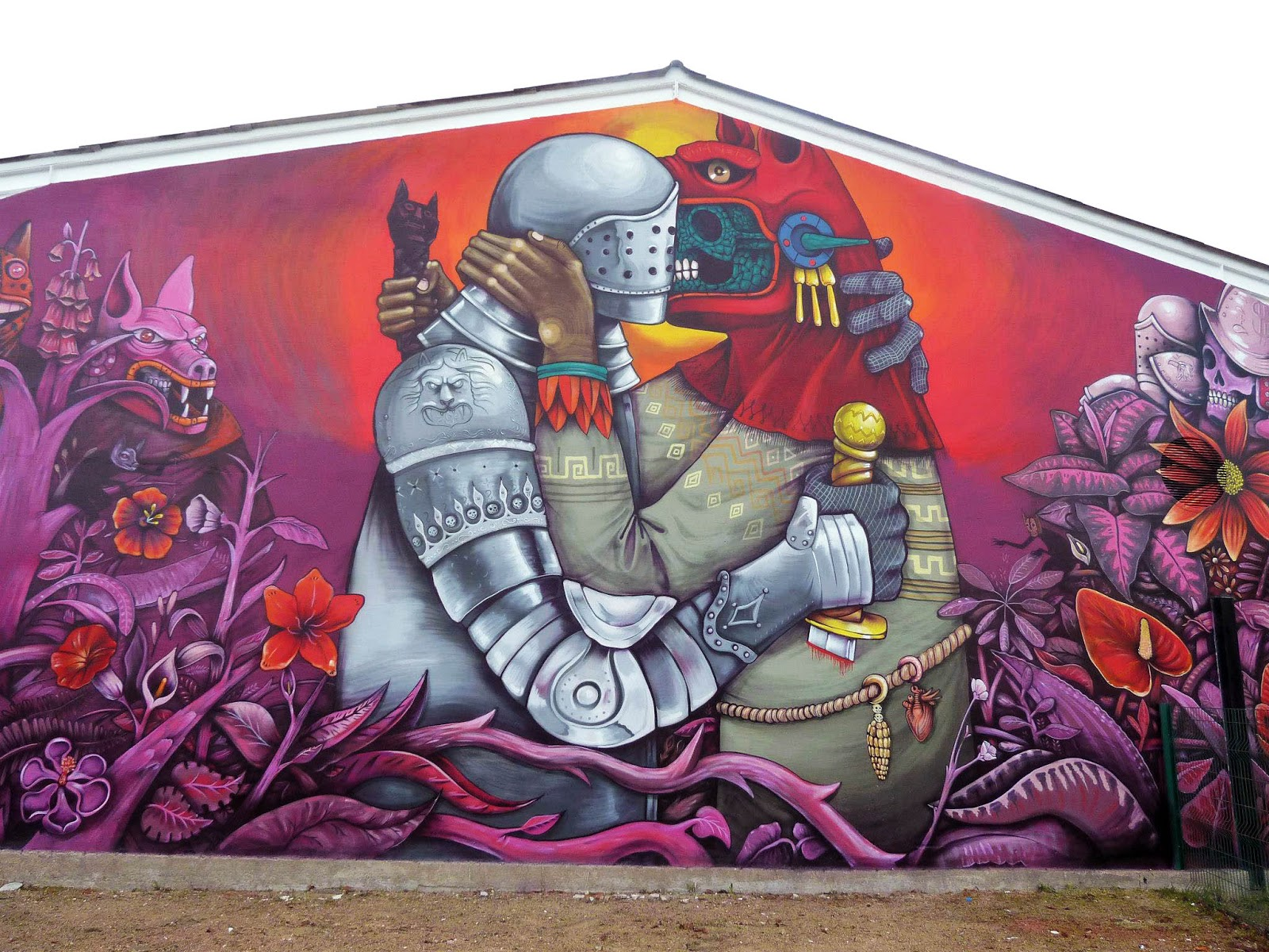 Saner new mural in fleury les aubrais france for Arte mural en mexico