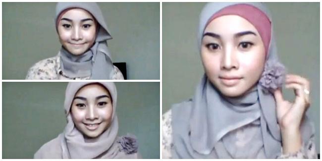 Model Gaya Hijab Paris Segi Empat Trendy Terbaru 2014