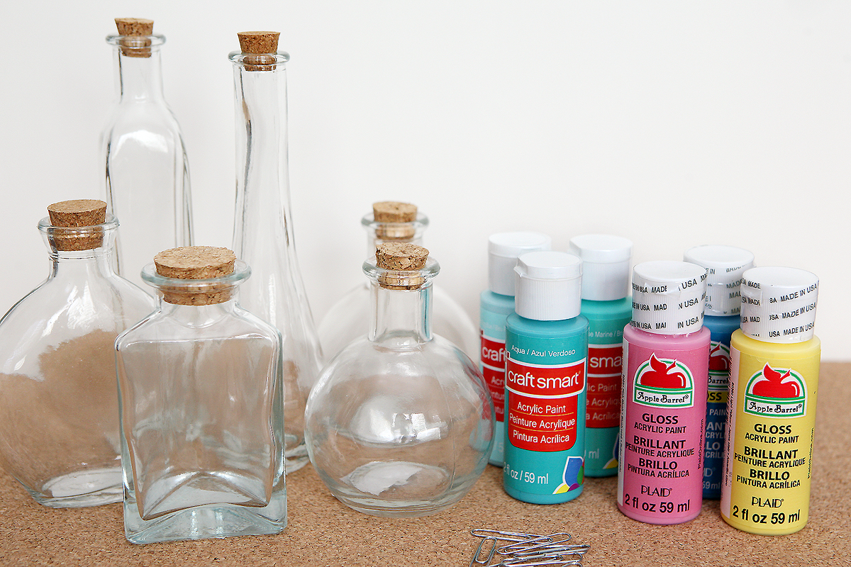 Painted photo bottles eighteen25 for How to paint glass bottles
