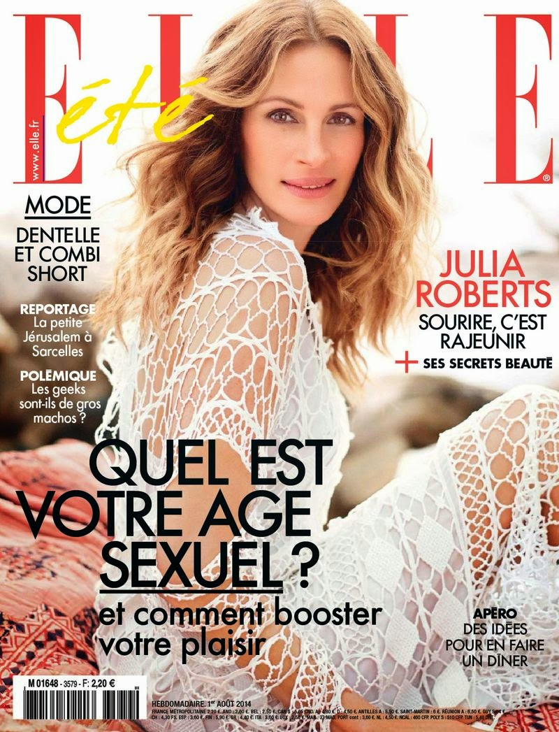 Julia Roberts - Elle Magazine, France, August 2014