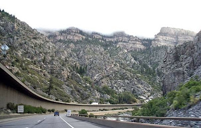 I-70 at Glenwood Canyon, Colorado