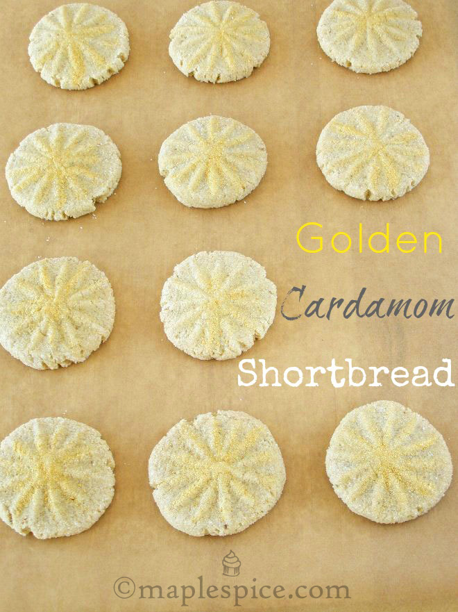 Vegan Golden Cardamom Shortbread