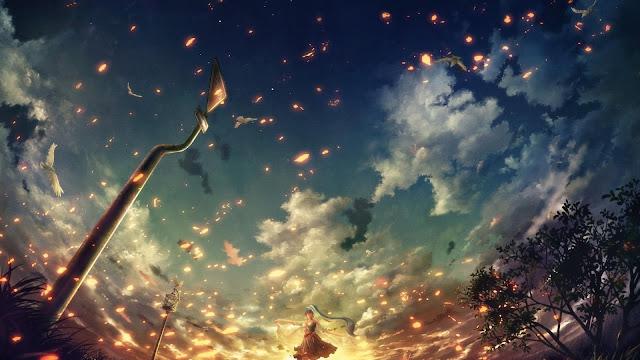 Anime Girls Dance Petals
