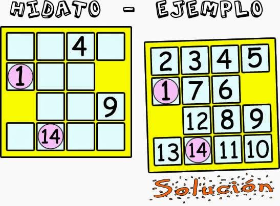Hidato, Problemas matemáticos, Jugar con números, Completa las casillas vacías con números, Desafíos matemáticos