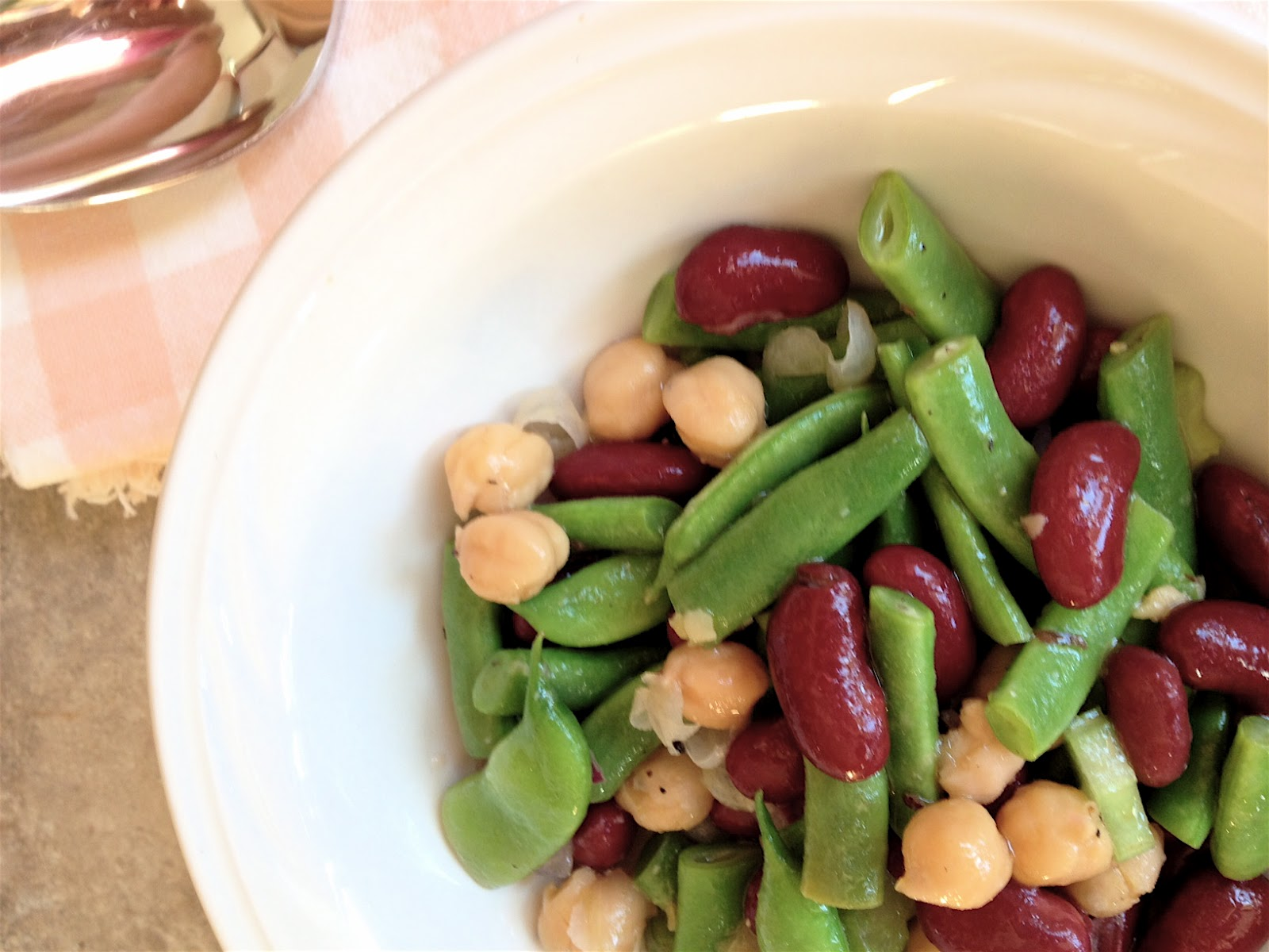 Three Bean Salad ~ Healthy Journey Cafe