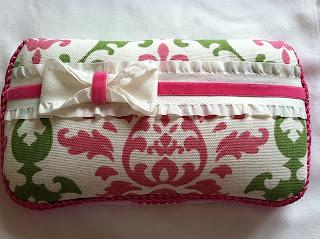 Pink n Green Damask