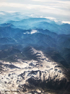 Alps seen from above