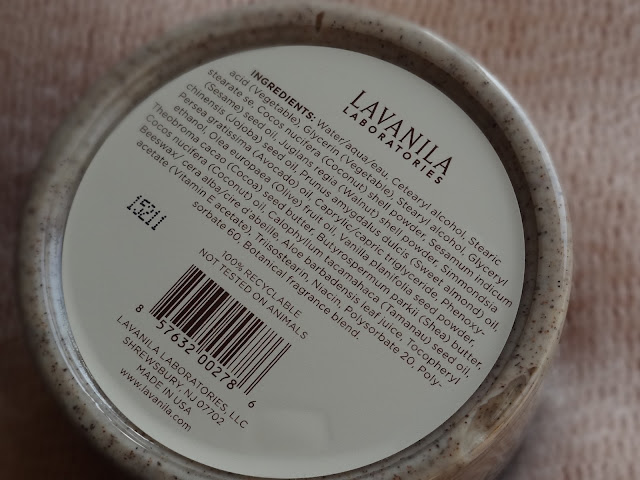 Lavanila Vanilla Bean Body Scrub Ingredients