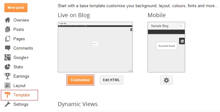 customise your blogger template using template designer pirob