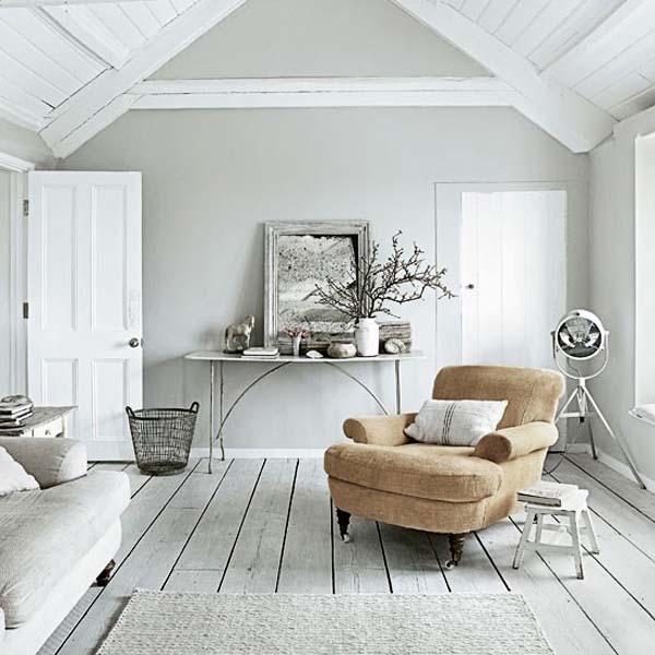 salón en grises y blanco-cálido- nórdico industrial