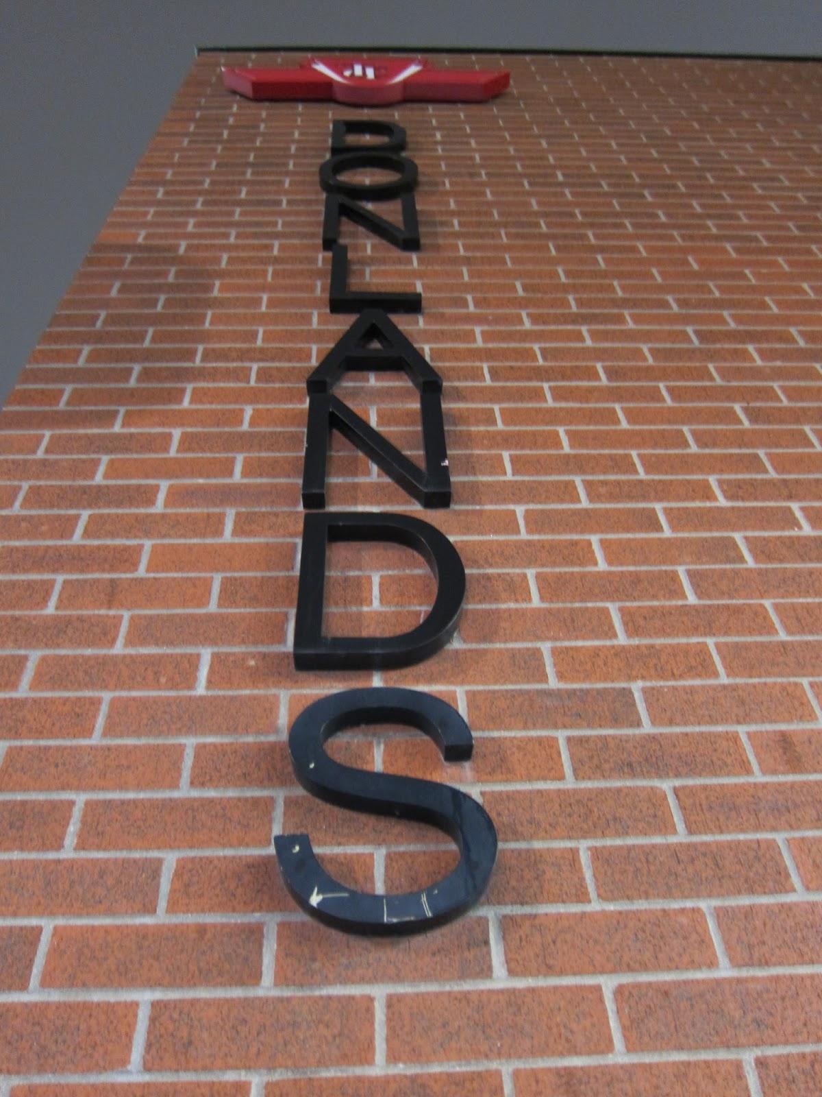 Donlands station exterior signage