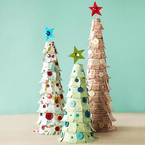 fazer árvore de natal com papel