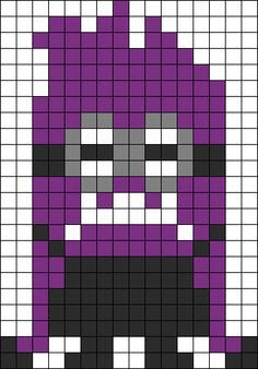 Purple minion pixel art