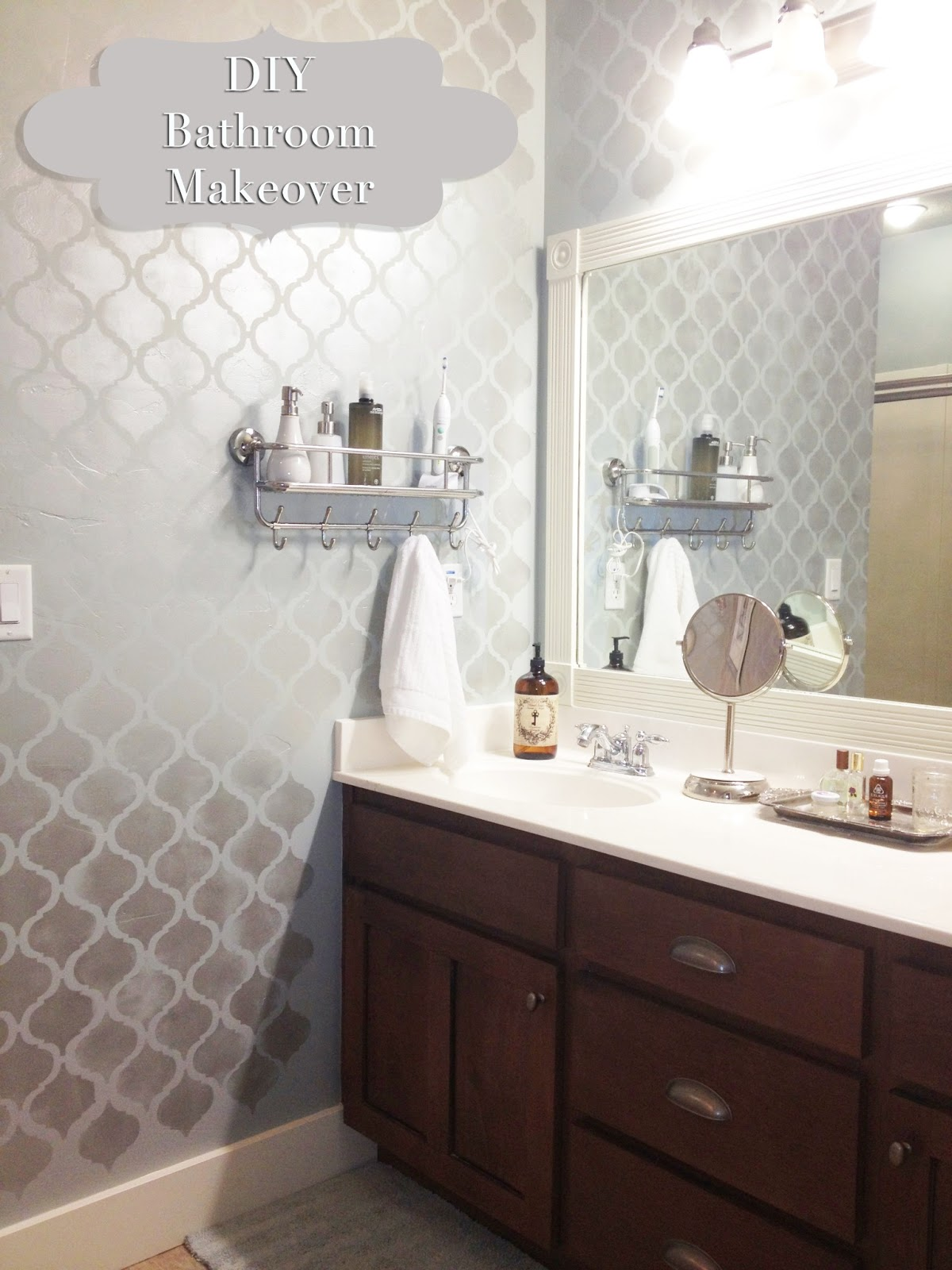 Diy bathroom 2017 grasscloth wallpaper for Pictures of bathroom makeovers