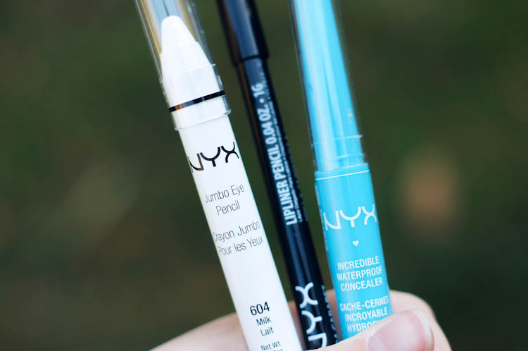 NYX Eye Pencil, Lip Liner, and Concealer | NYX Haul on Ribbons Down My Back
