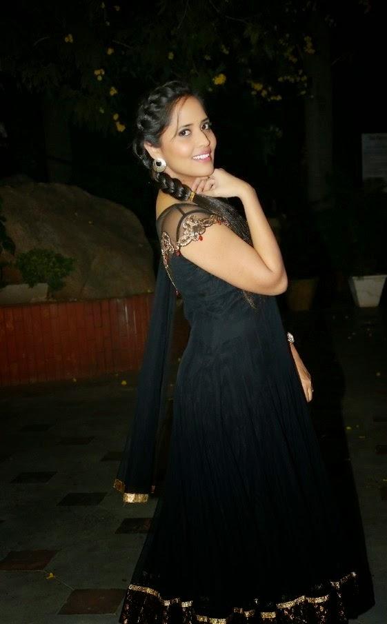 Anasuya is Magnificent in Black Dress at Ee Varsham Sakshiga Movie Audio Launch