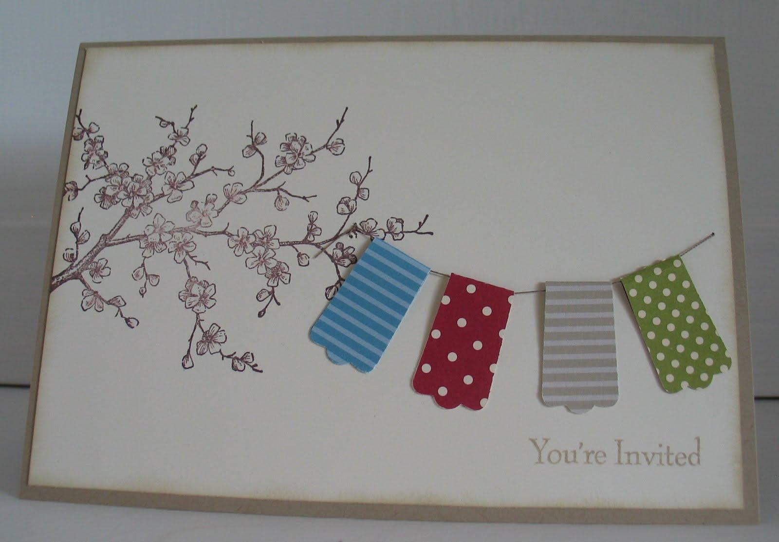 stampin with beemybear einladungskarten geburtstagsparty im garten. Black Bedroom Furniture Sets. Home Design Ideas