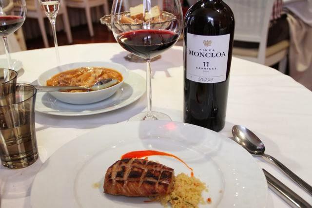 Vino Finca Moncloa en el Restaurante Palio. Blog Esteban Capdevila