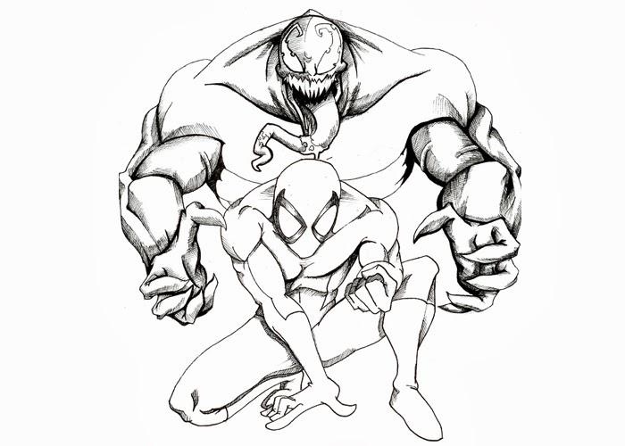 Dorable Veneno Spiderman Para Colorear Motivo - Ideas Para Colorear ...