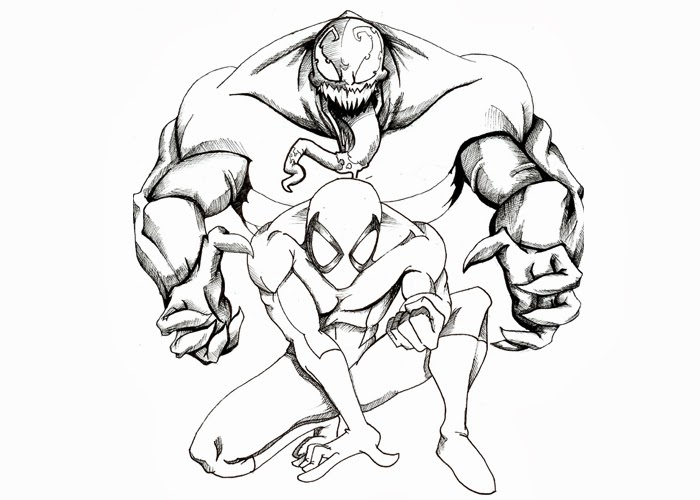 Venom coloring pages | Free Coloring Pages and Coloring Books for Kids