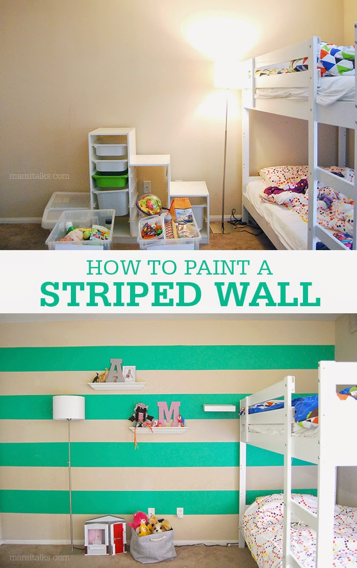 How to Paint a Striped Wall - Mami Talks™